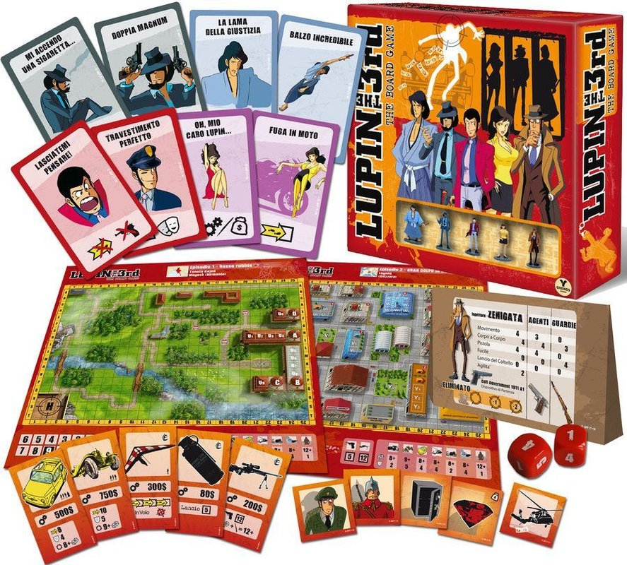 Lupin the Third - The Boardgame components