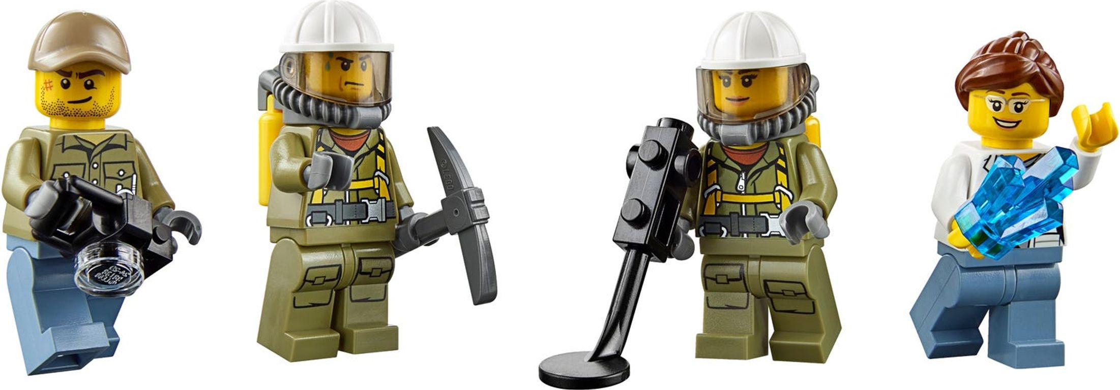 LEGO® City Volcano Starter Set minifigures