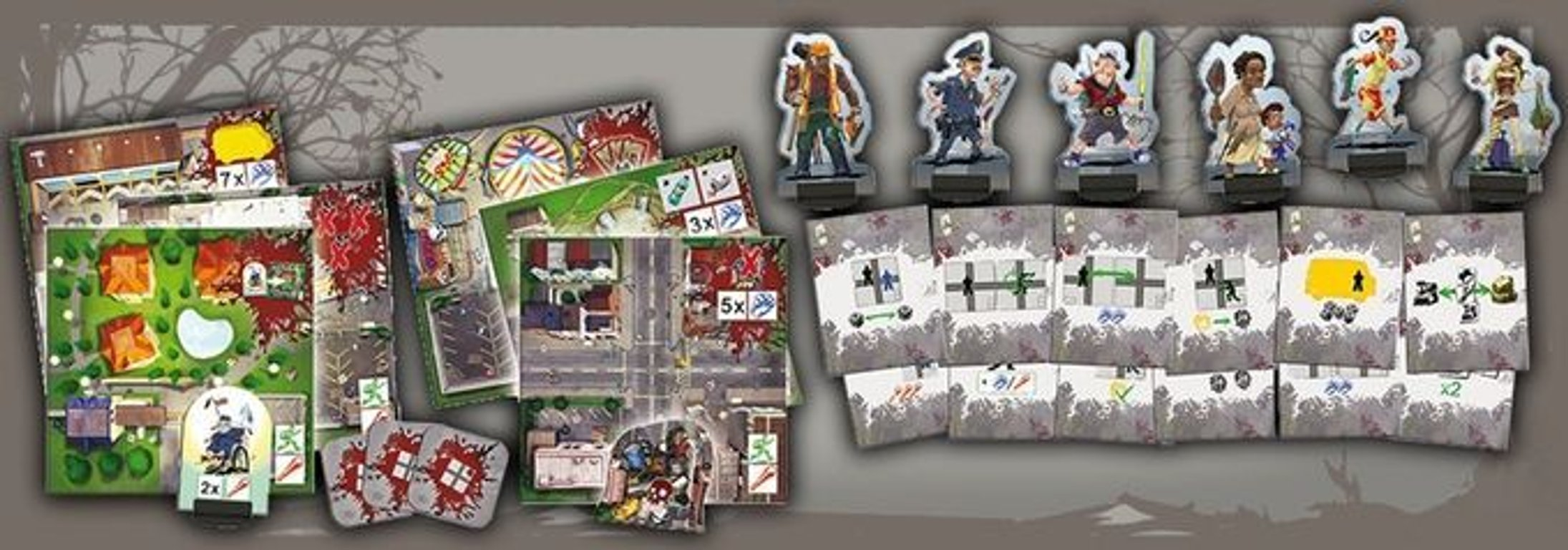 Escape: Zombie City - The Survivor Chronicles components