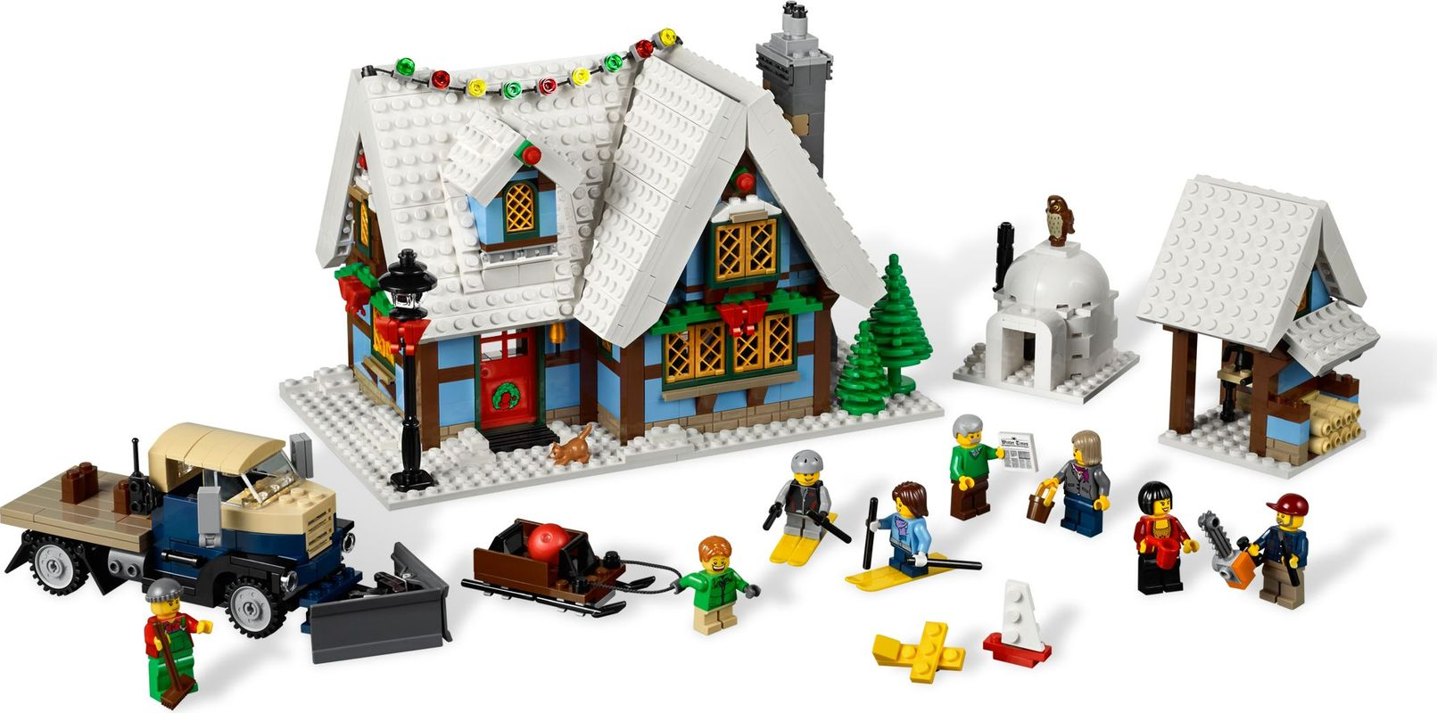 Winter Village Cottage components