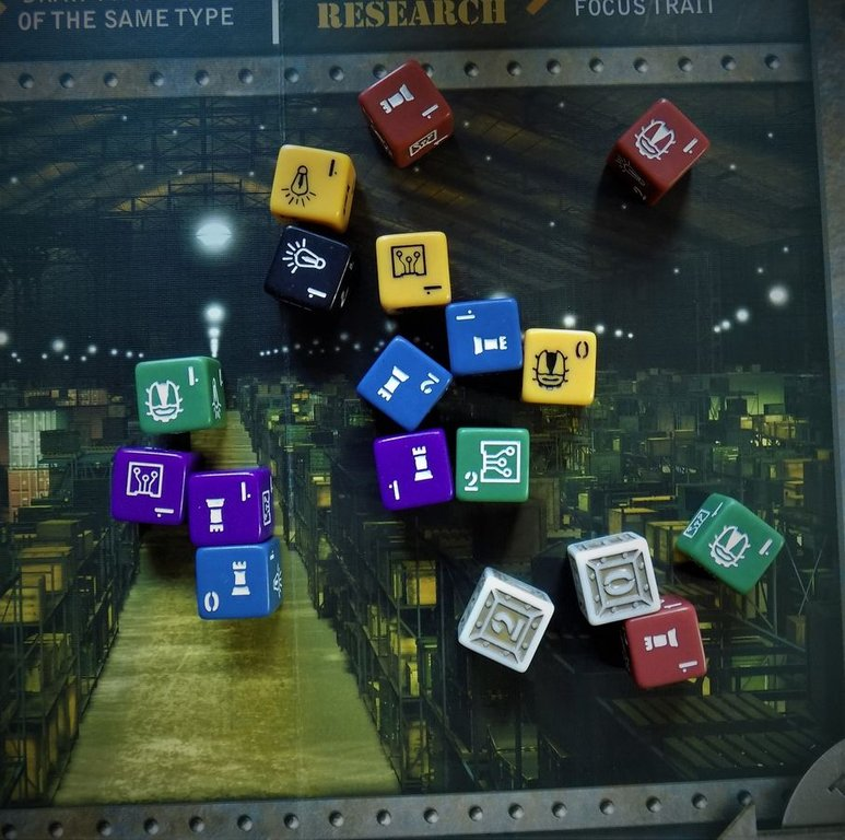 Warehouse 13: The Board Game dice