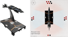 Star Wars: Armada –  Recusant-class Destroyer Expansion Pack miniature