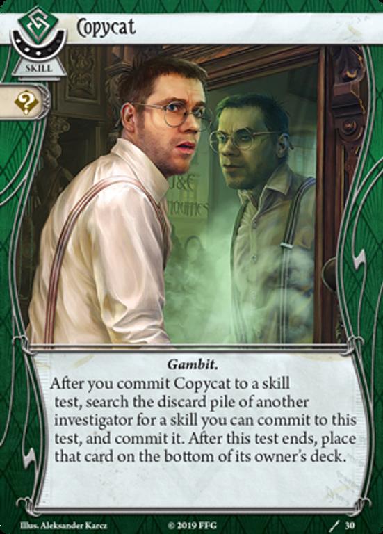 Arkham Horror LCG: Winifred Habbamock Investigator Starter Deck Copycat card