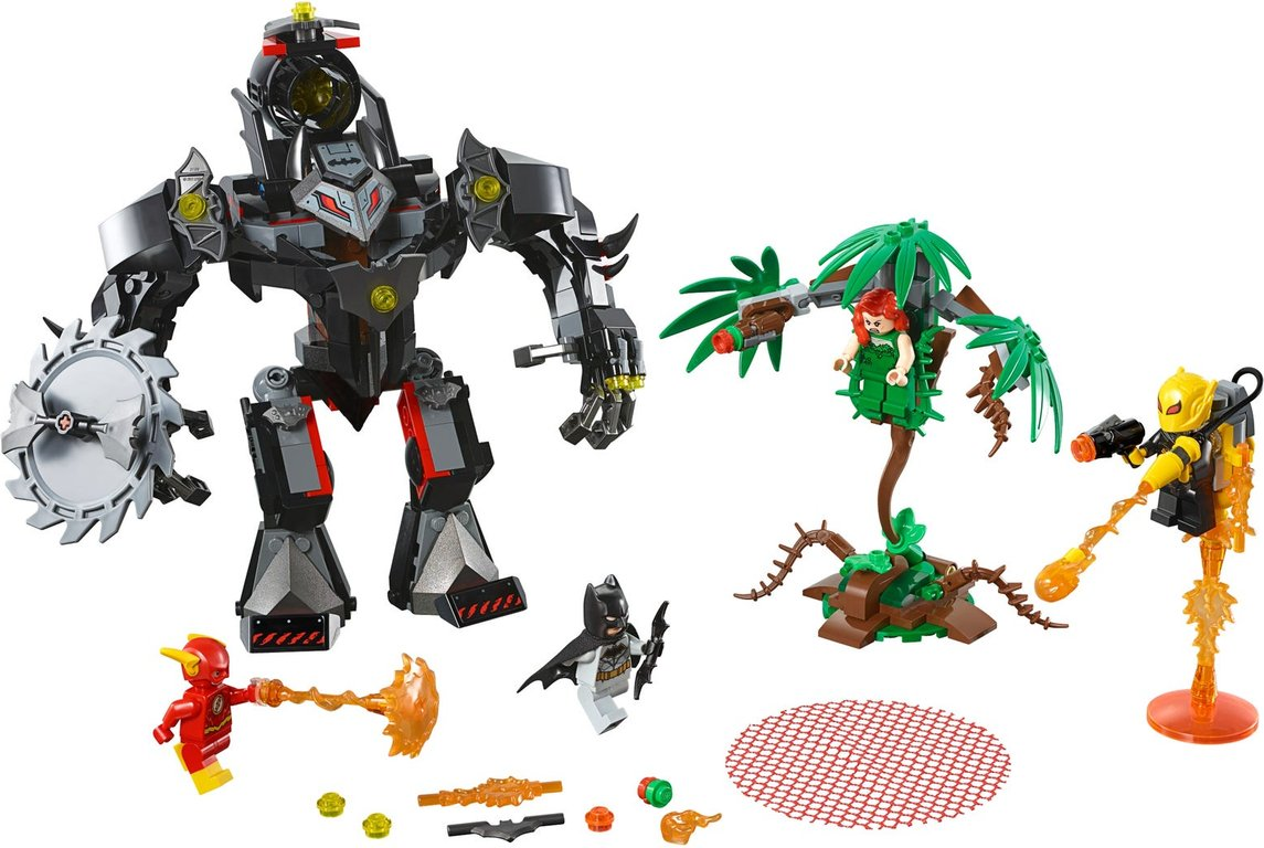 LEGO® DC Superheroes Batman™ Mech vs. Poison Ivy™ Mech components