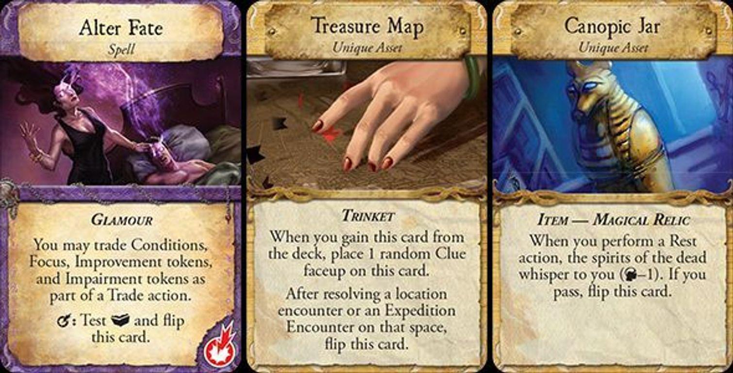 Eldritch Horror: Under the Pyramids cards