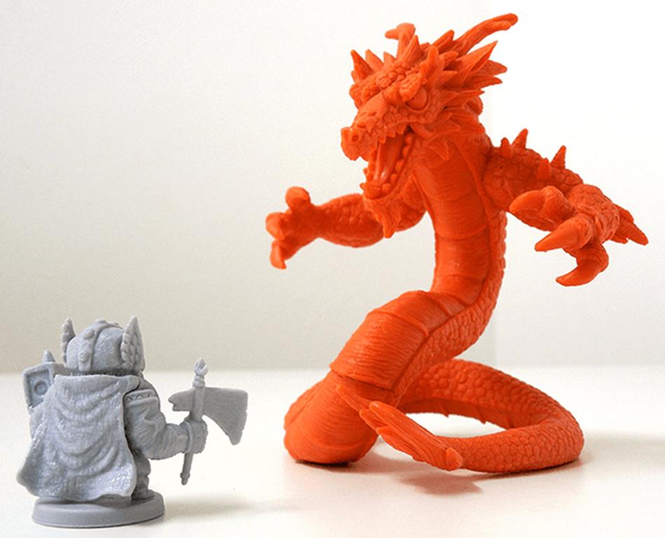 Arcadia Quest: Fire Dragon miniatures