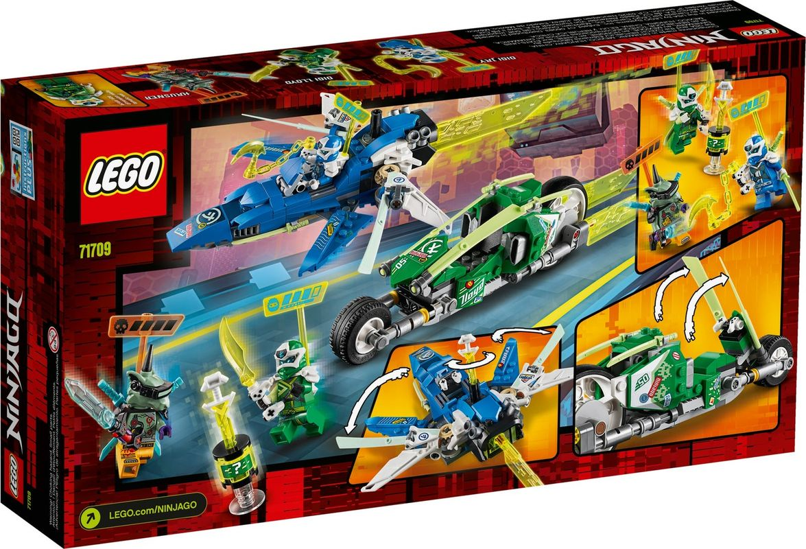 Jay and Lloyd's Velocity Racers back of the box