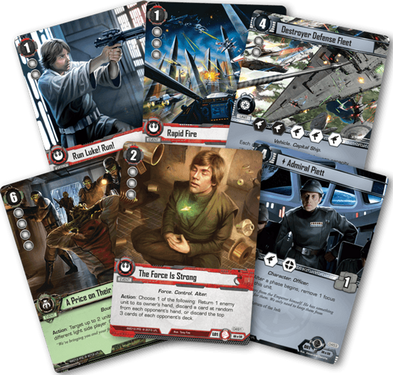 Star Wars: The Card Game - Balance of the Force cards