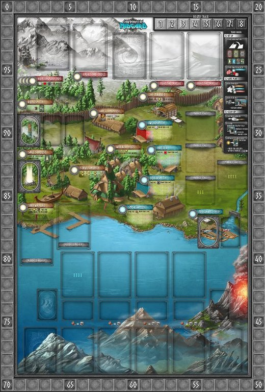 Champions of Midgard game board