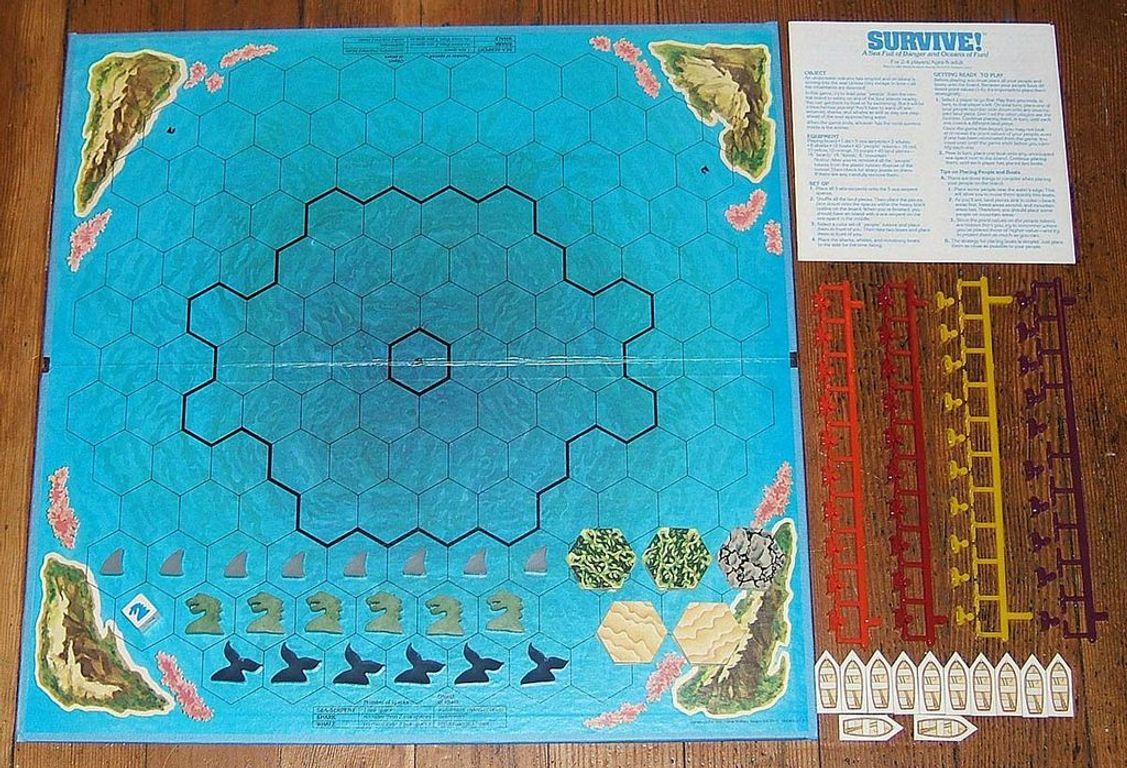 Survive: Escape from Atlantis! game board
