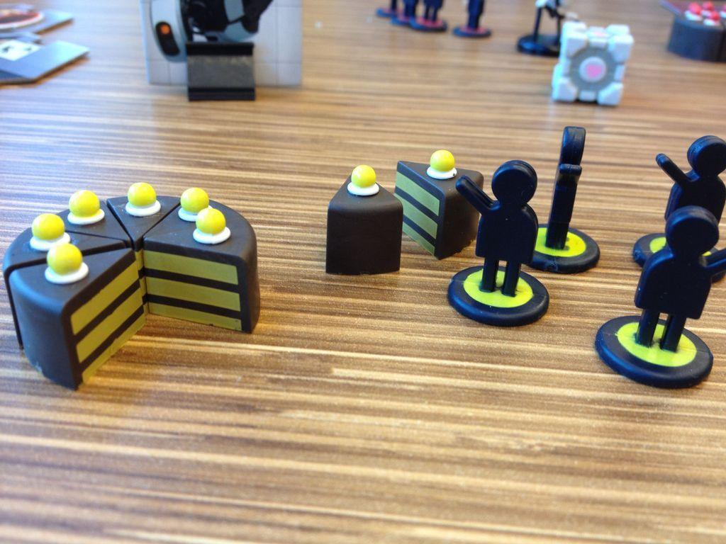 Portal: The uncooperative cake acquisition game miniatures