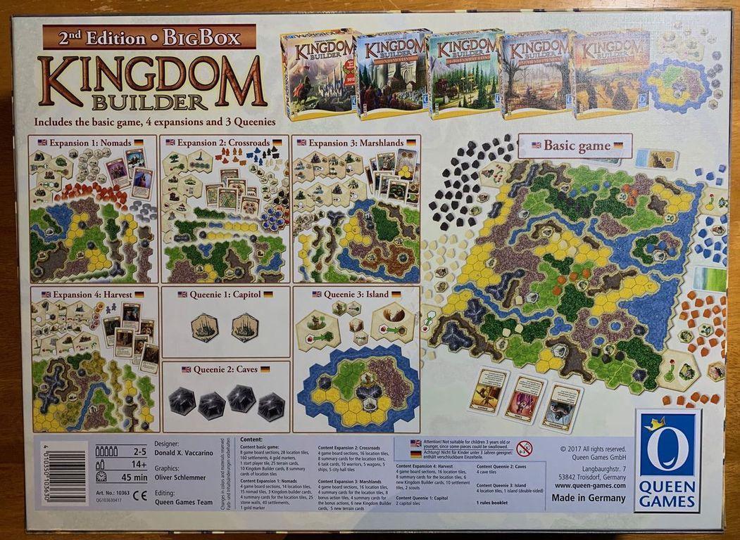 Kingdom Builder: Big Box (Second Edition) back of the box