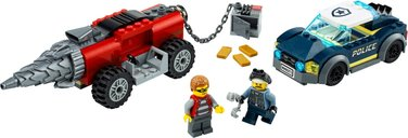 LEGO® City Elite Police Driller Chase components
