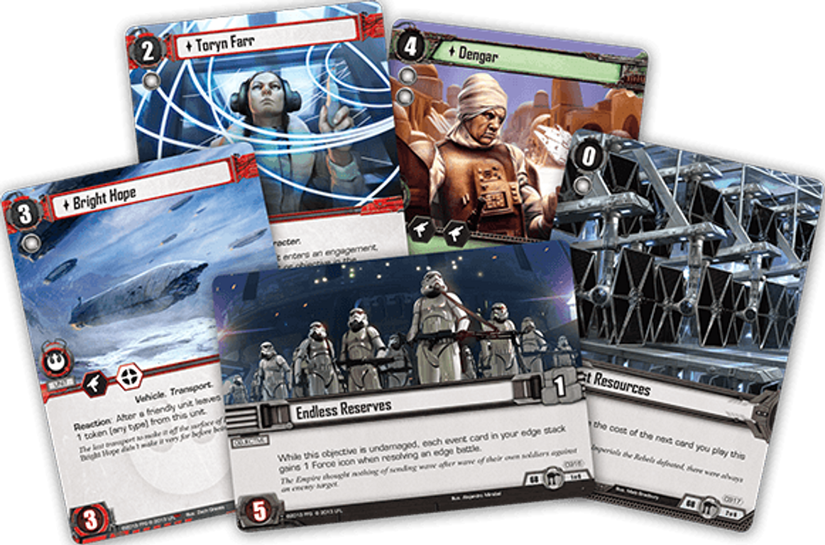 Star Wars: The Card Game - Escape from Hoth cards