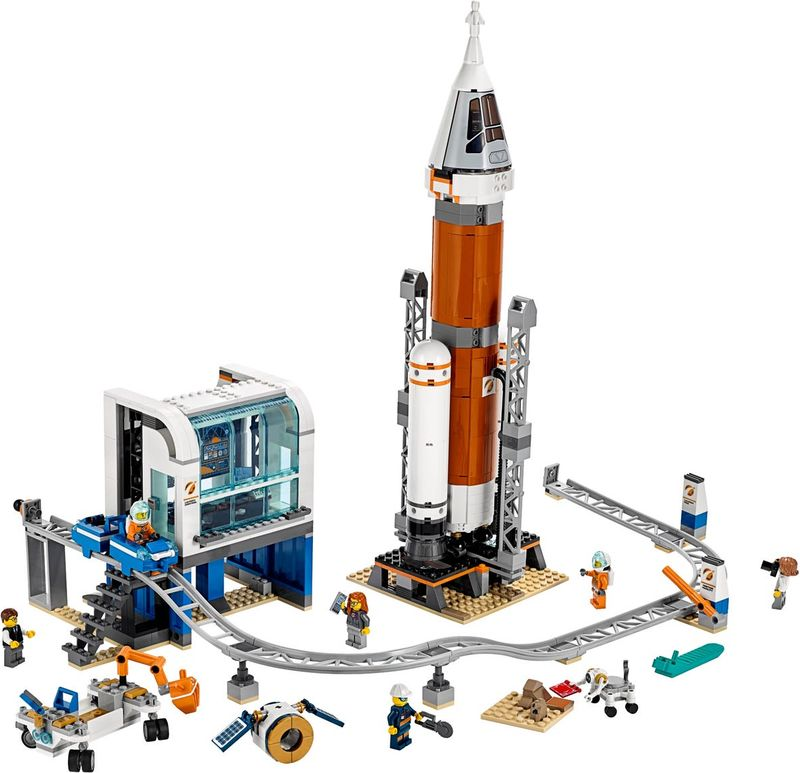 LEGO® City Deep Space Rocket and Launch Control components