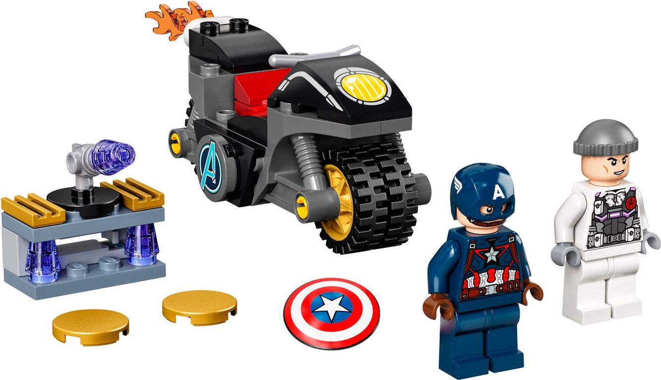 LEGO® Marvel Captain America and Hydra Face-Off components