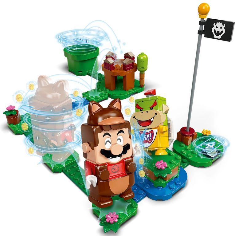 LEGO® Super Mario™ Tanooki Mario Power-Up Pack components