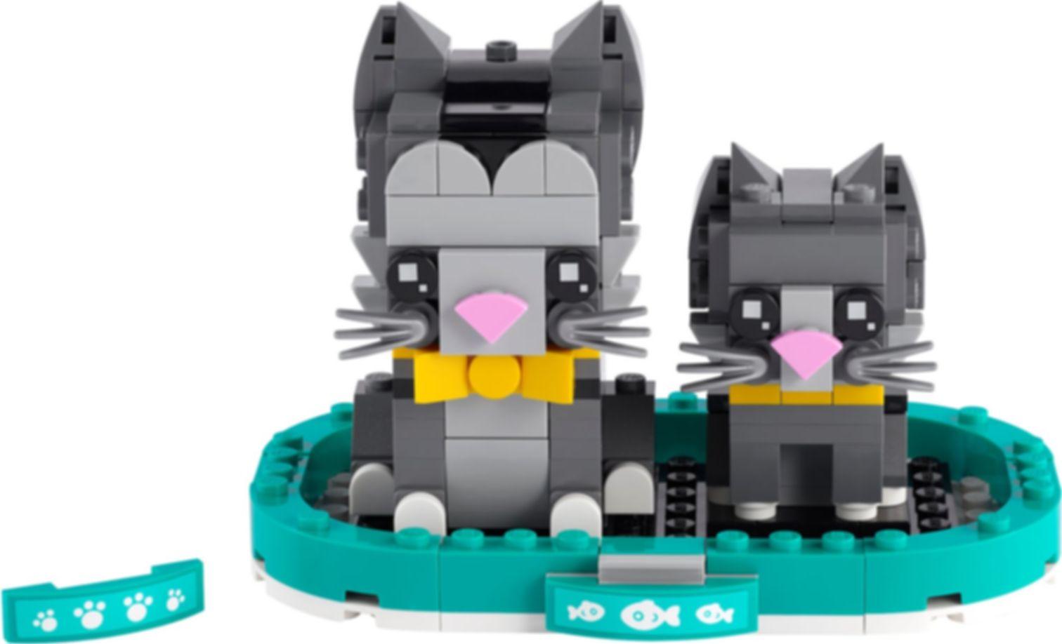 LEGO® BrickHeadz™ Shorthair Cats components