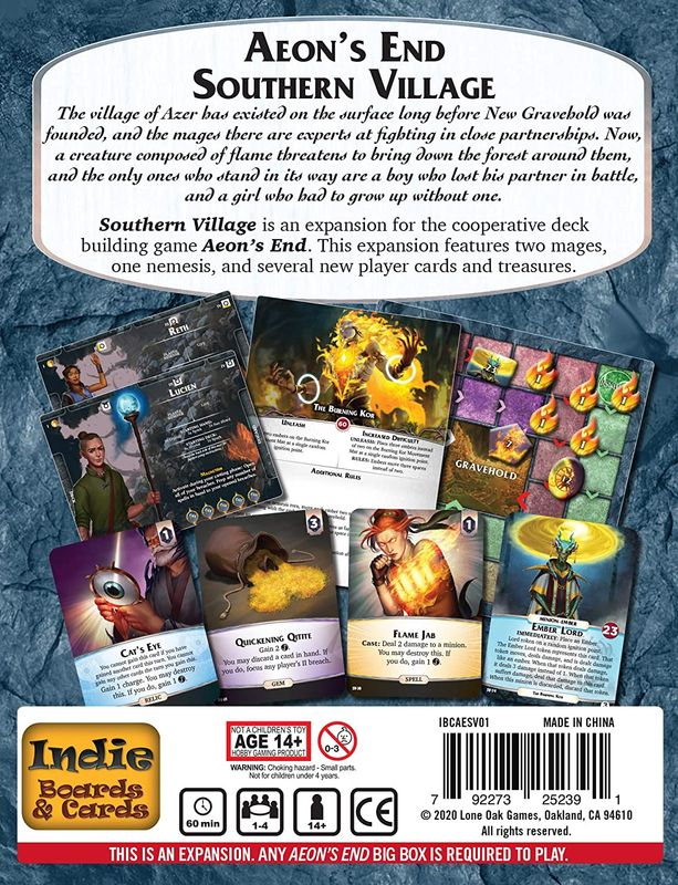 Aeon's End: Southern Village back of the box