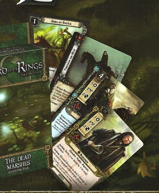 The Lord of the Rings: The Card Game - The Dead Marshes components