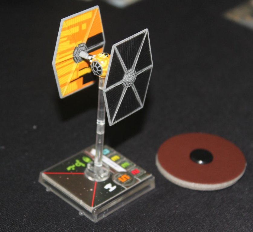 Star Wars: X-Wing Miniatures Game - Sabine's TIE Fighter Expansion Pack components