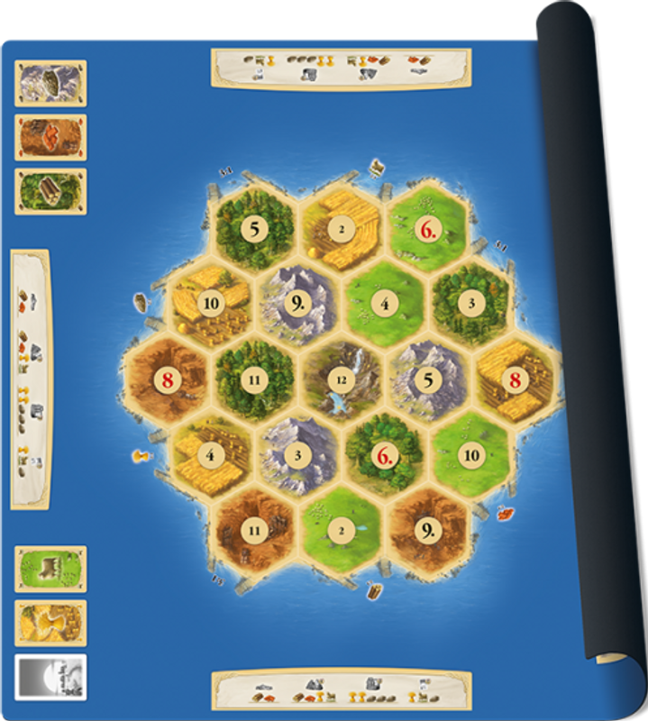 Catan playmat game board