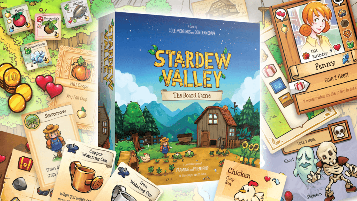 Stardew Valley: The Board Game components