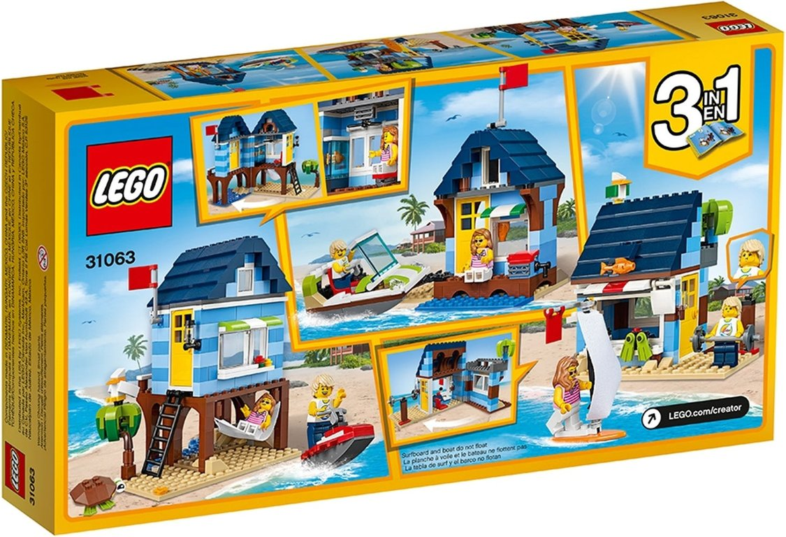 LEGO® Creator Beachside Vacation back of the box