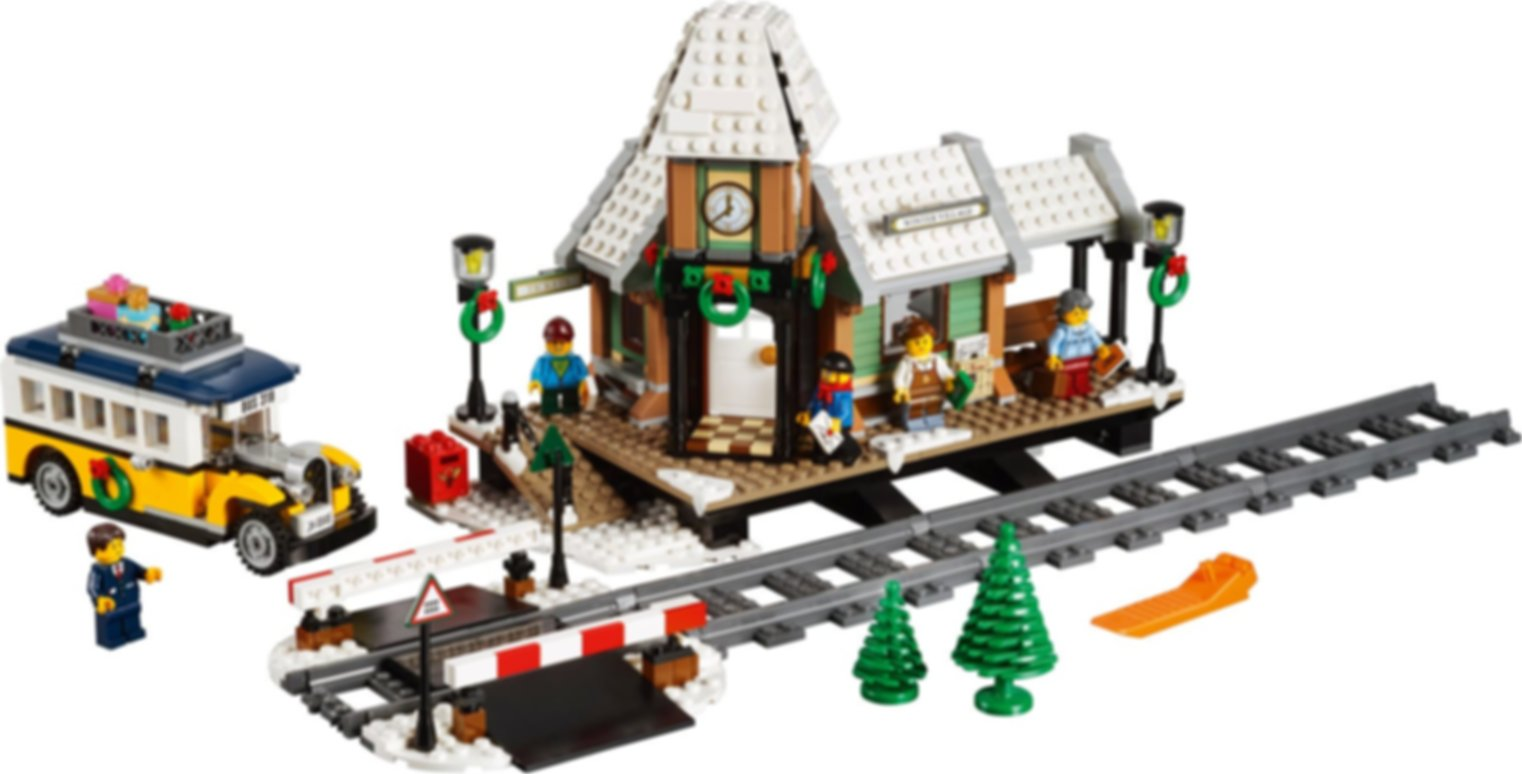 Winter Village Station components