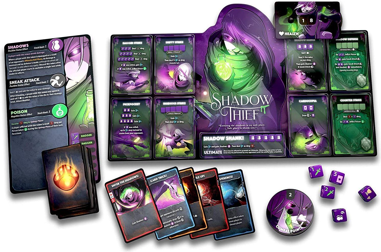 Dice Throne: Season One ReRolled – Pyromancer v. Shadow Thief components