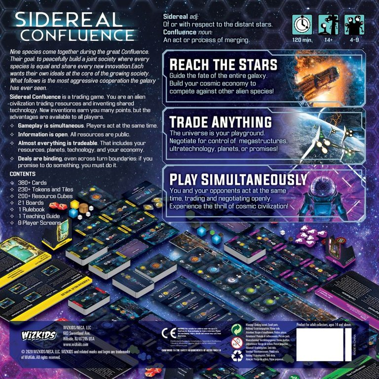Sidereal Confluence back of the box