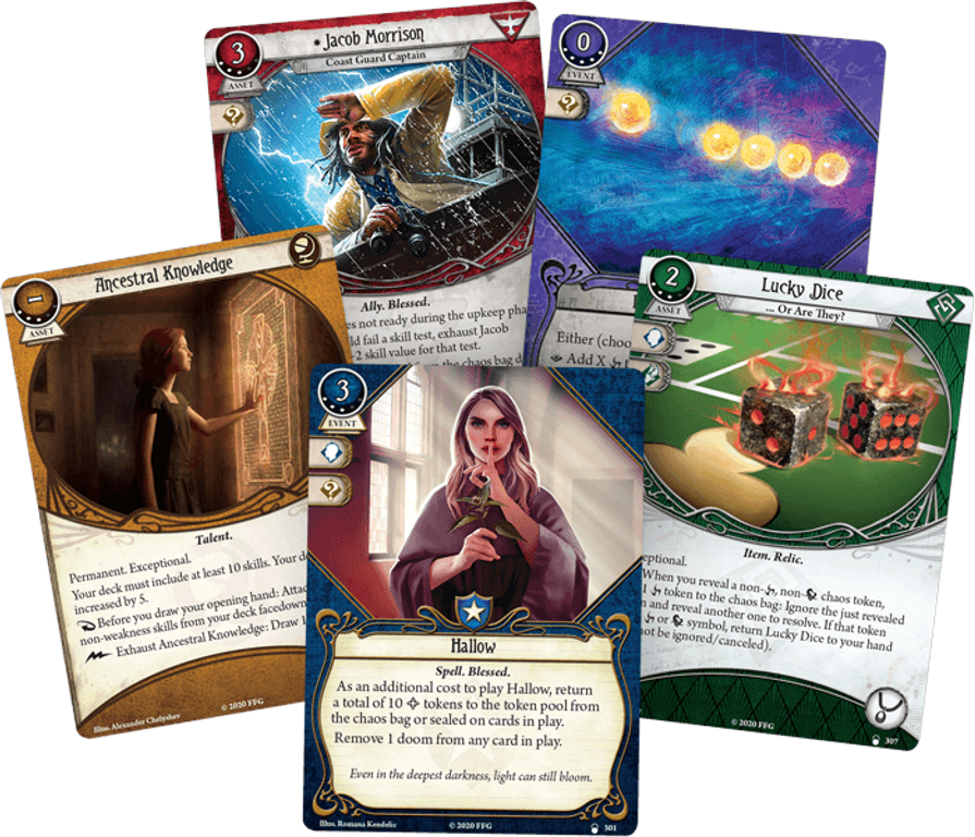 Arkham Horror: The Card Game – Into the Maelstrom: Mythos Pack cards
