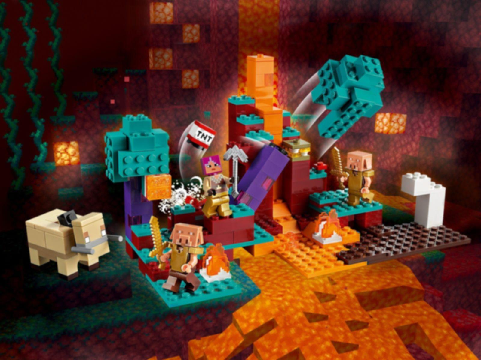 LEGO® Minecraft The Warped Forest gameplay