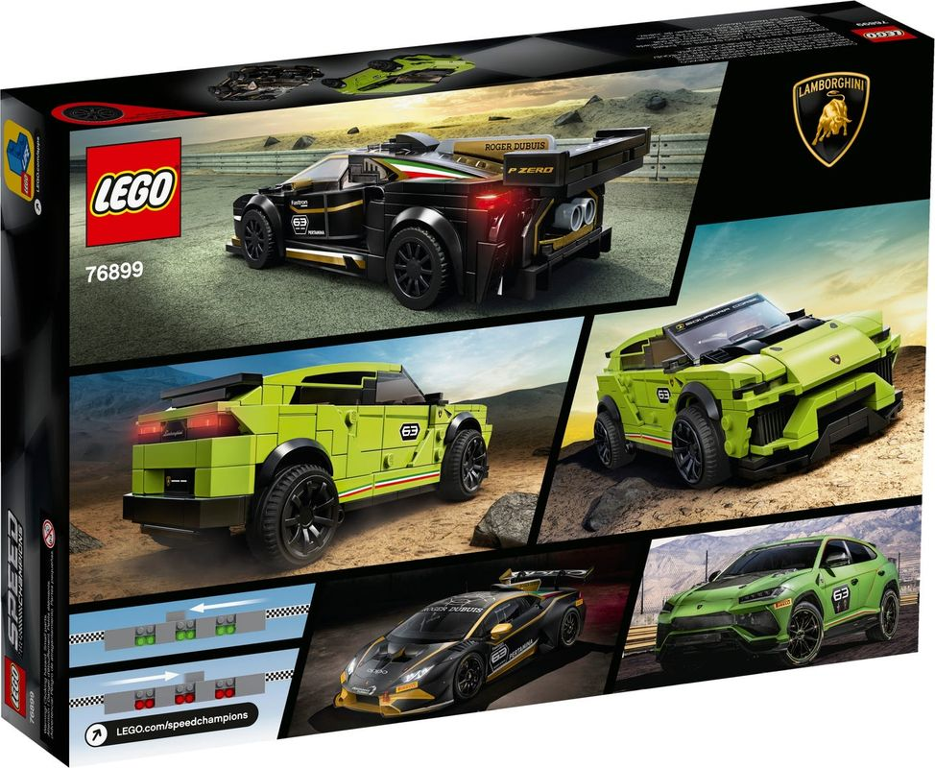 Lamborghini Urus ST-X & Lamborghini Huracán Super Trofeo EVO back of the box