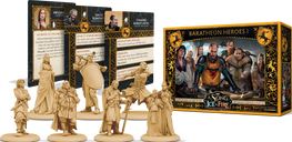 A Song of Ice & Fire: Tabletop Miniatures Game – Baratheon Heroes I components