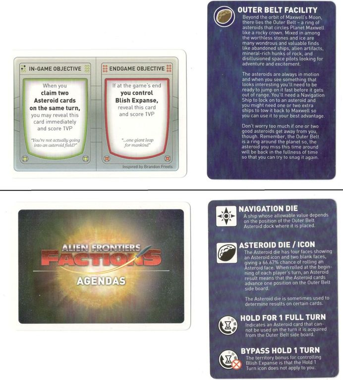 Alien Frontiers: Expansion Pack #6 components