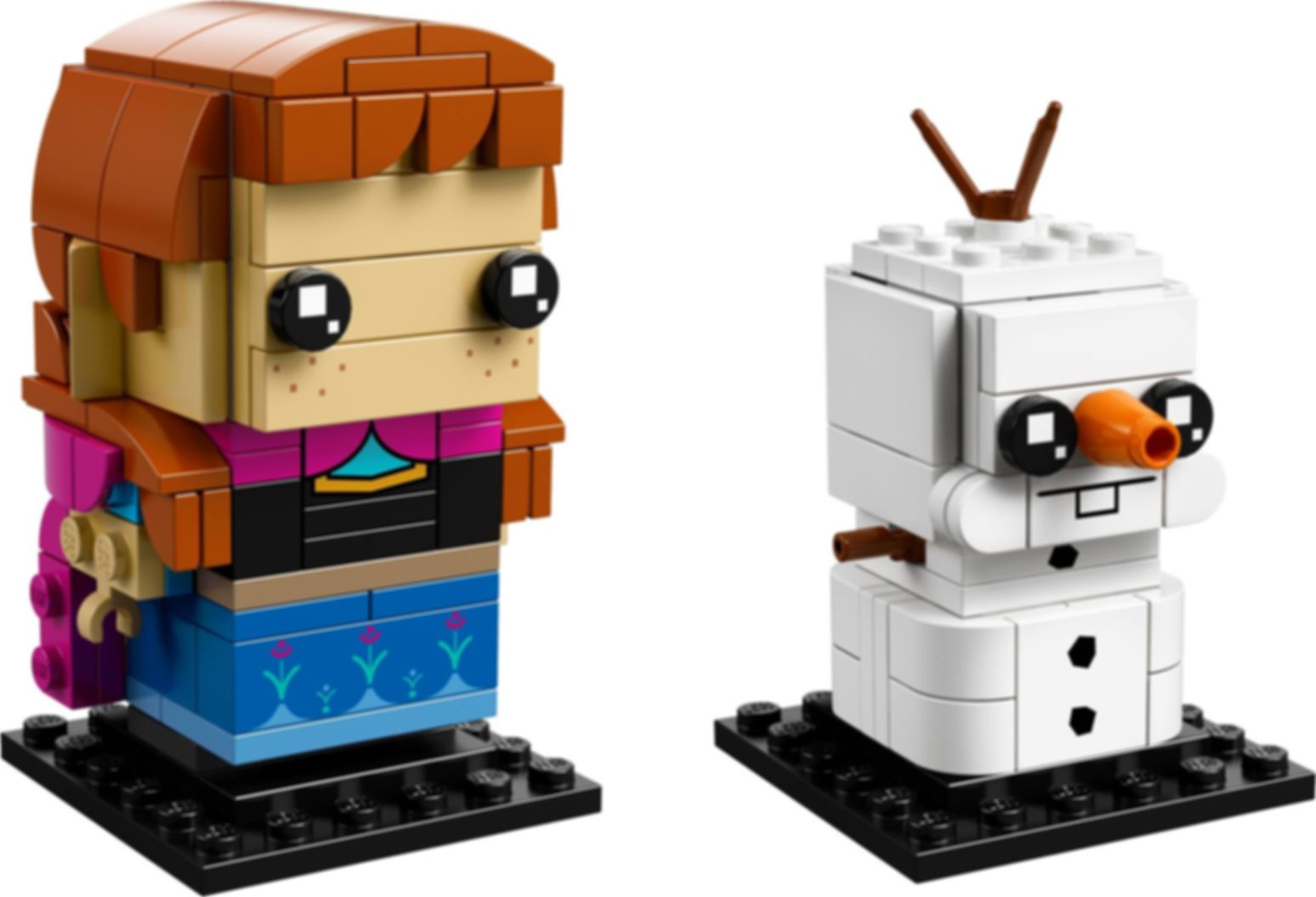 LEGO® BrickHeadz™ Anna & Olaf components