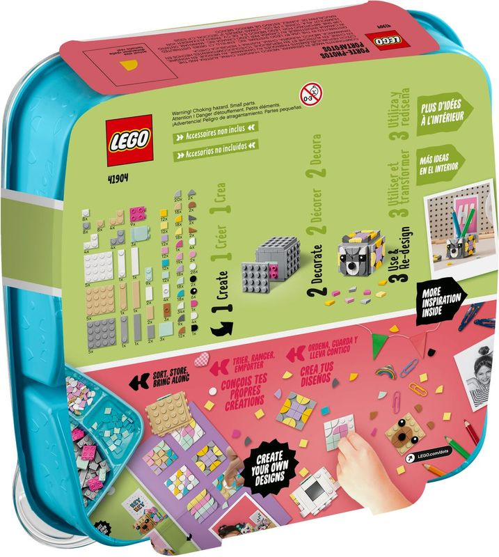 LEGO® DOTS Animal Picture Holders back of the box