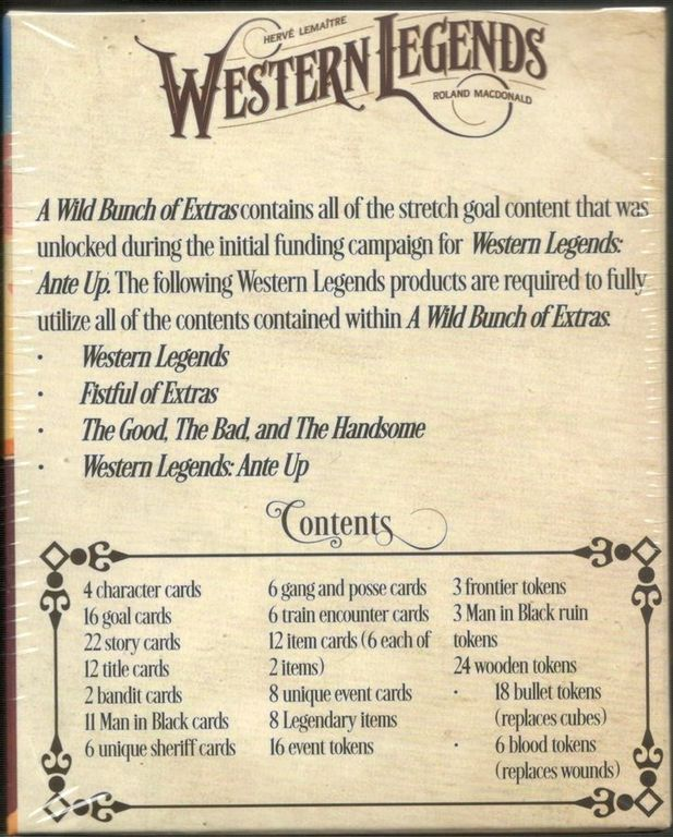 Western Legends: Wild Bunch of Extras back of the box