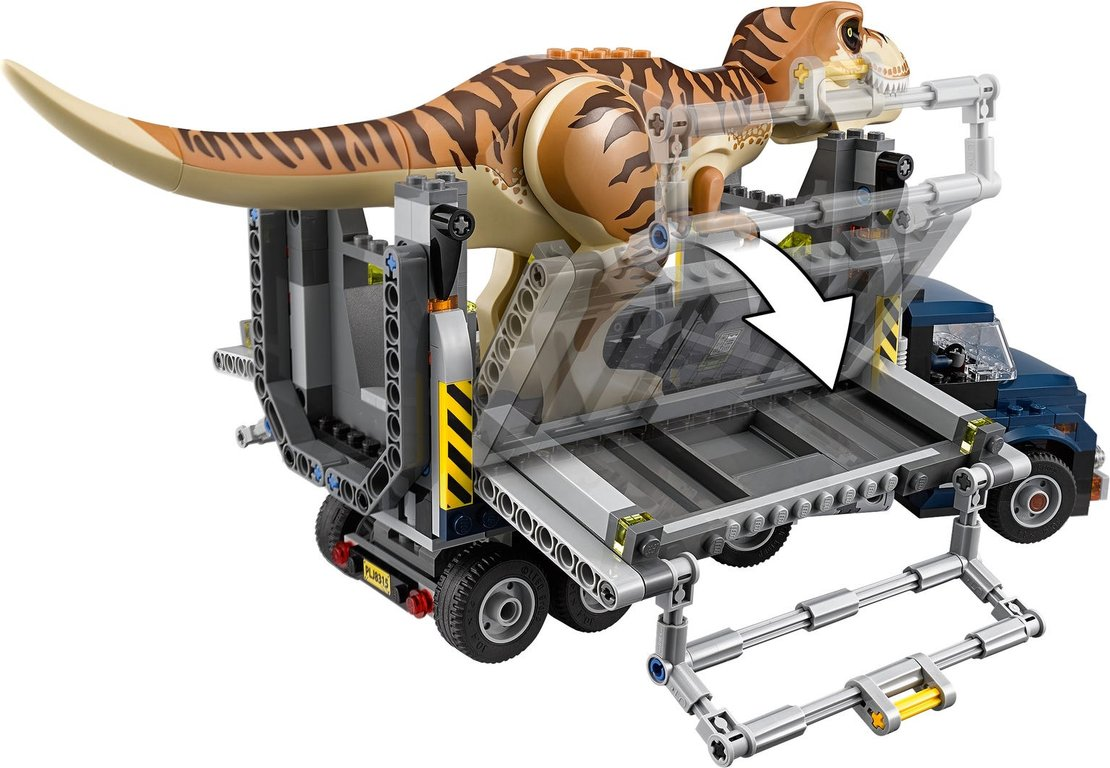 LEGO® Jurassic World T. rex Transport gameplay