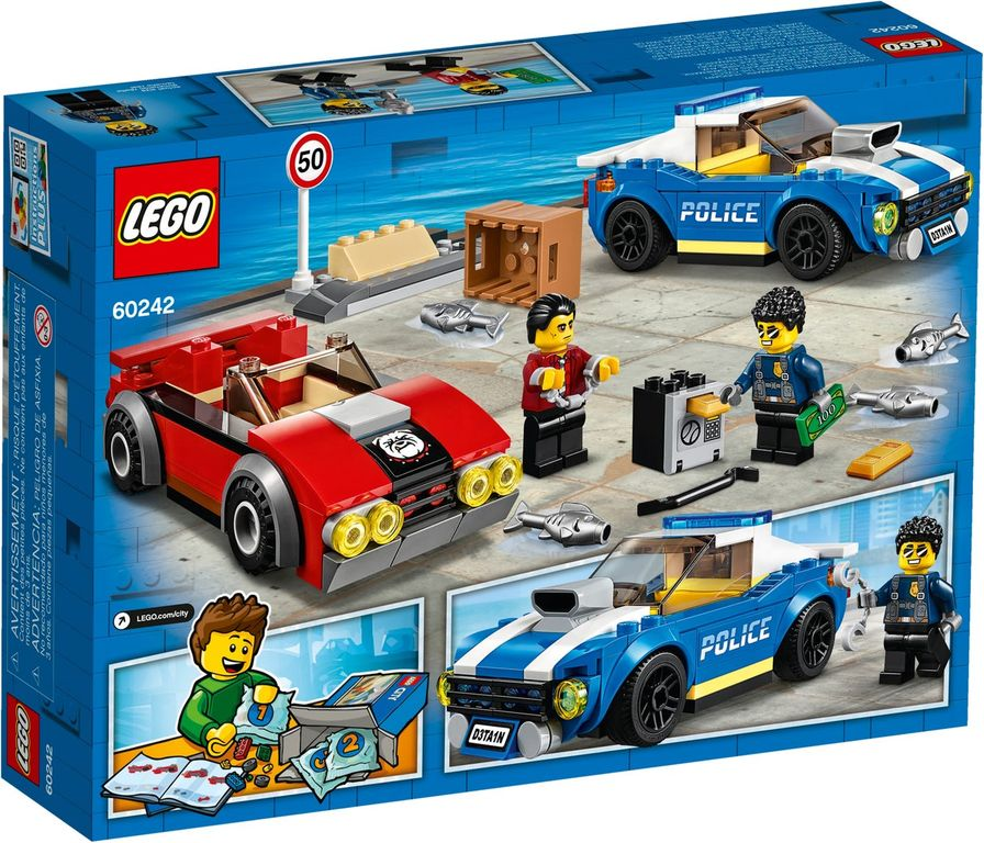 LEGO® City Police Highway Arrest back of the box