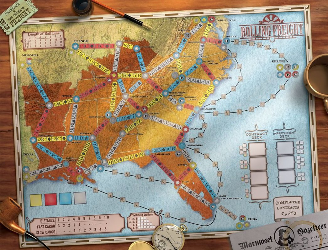 Rolling Freight game board