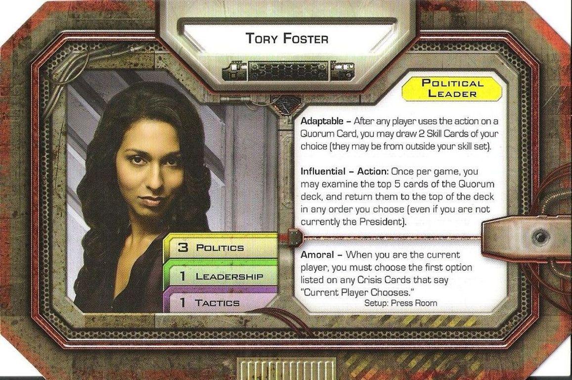 Battlestar Galactica: Exodus Expansion characters