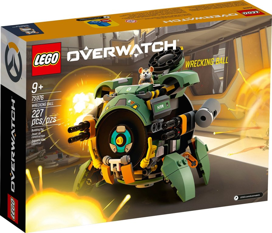 LEGO® Overwatch Wrecking Ball back of the box