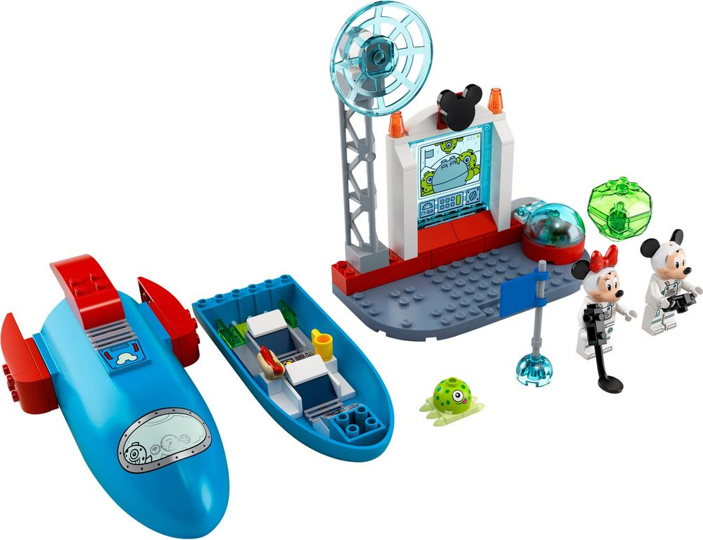 LEGO® Disney Mickey Mouse & Minnie Mouse's Space Rocket components