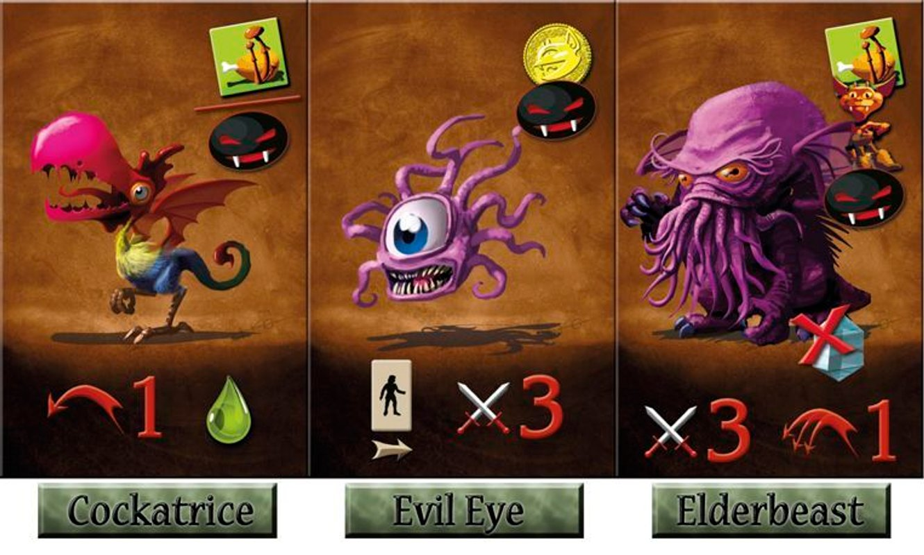 Dungeon Lords: Festival Season cards