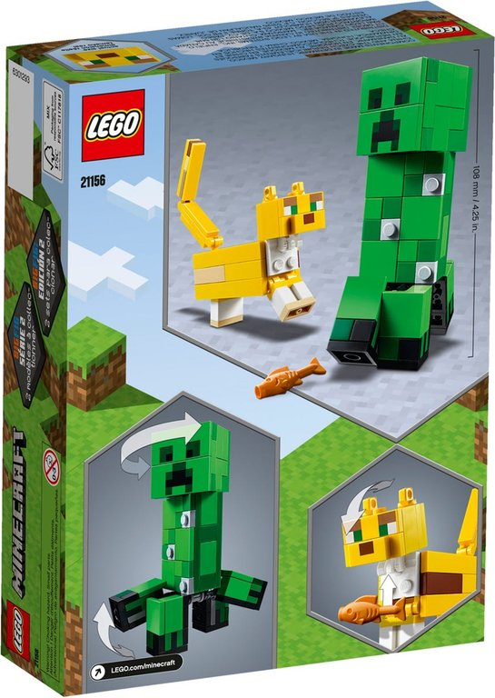 LEGO® Minecraft BigFig Creeper™ and Ocelot back of the box