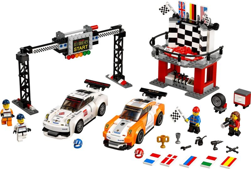LEGO® Speed Champions Porsche 911 GT finish components