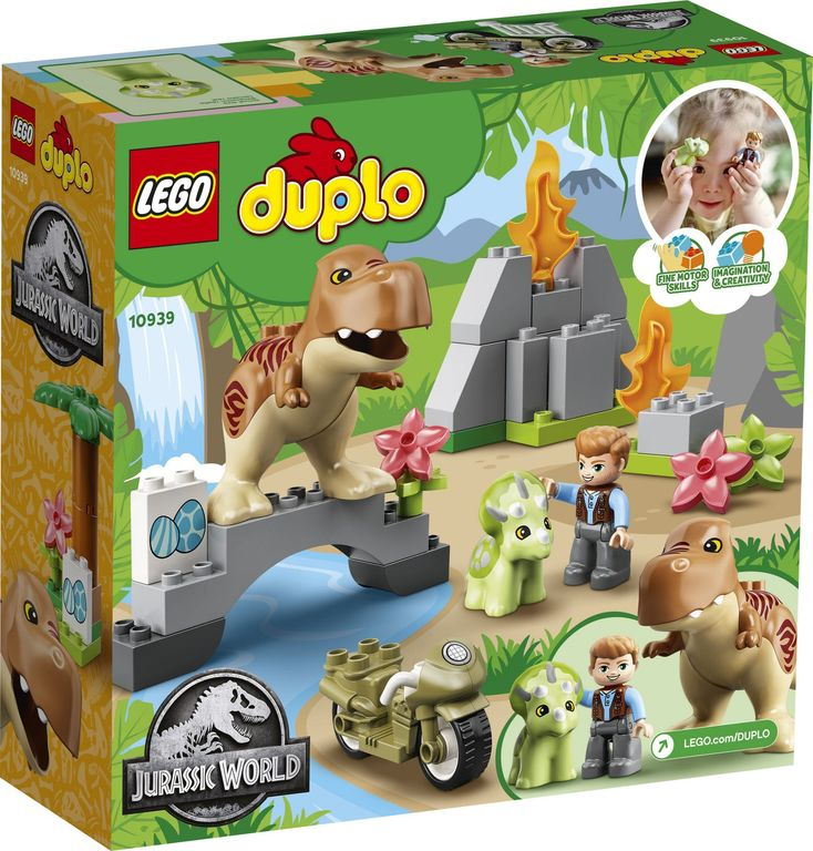 LEGO® DUPLO® T. rex and Triceratops Dinosaur Breakout back of the box
