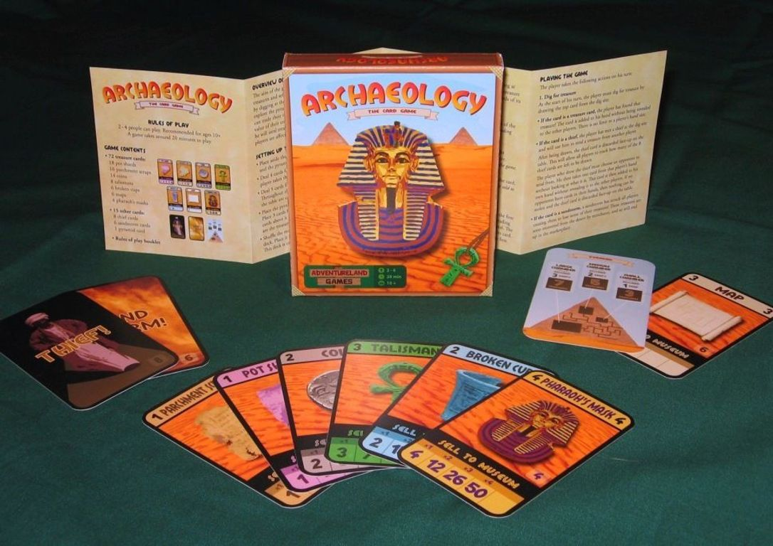 Archaeology: The Card Game components